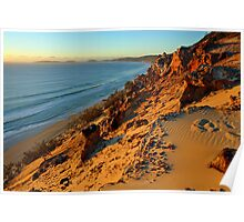 Coloured Sands at sunrise. Rainbow Beach, Queensland, Australia. Poster