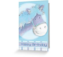 """Peter Patter Pony"" birthday card Greeting Card"