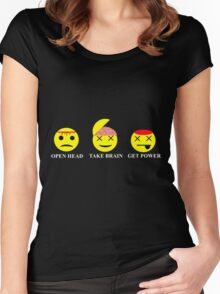 Heroes Sylar Smileys Women's Fitted Scoop T-Shirt