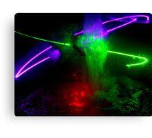 Laser Power Canvas Print