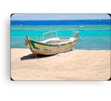 red sea boat Canvas Print