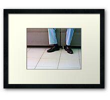 Shiny Kicks Framed Print