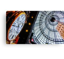 Clock at the Shot Tower - Melbourne Central, Victoria Canvas Print