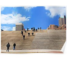 Up the Steps to the Gateway Arch Poster