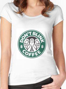 Weeping Angel of Original Starbucks Logo Women's Fitted Scoop T-Shirt