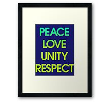 Peace Love Unity Respect (PLUR) Framed Print