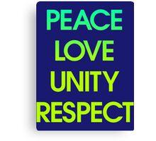 Peace Love Unity Respect (PLUR) Canvas Print