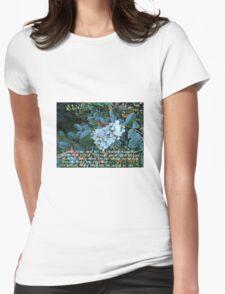 White as Snow Womens Fitted T-Shirt