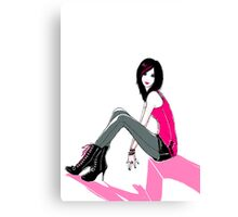 Curbside Pink Canvas Print