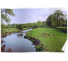Old English River Scape Poster