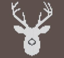 White Tail Buck in Knit Style Baby Tee