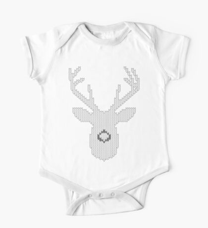 White Tail Buck in Knit Style One Piece - Short Sleeve