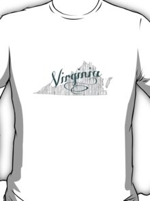 Virginia State Typography T-Shirt