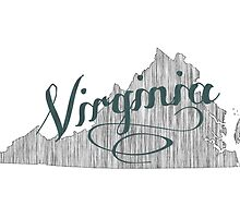 Virginia State Typography by surgedesigns