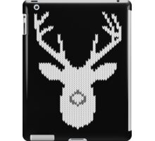 White Tail Buck in Knit Style iPad Case/Skin
