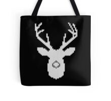 White Tail Buck in Knit Style Tote Bag