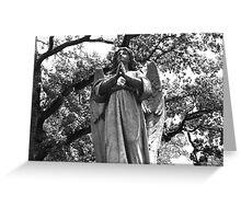 Angel grave marker, Houston Greeting Card