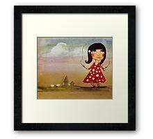 skipping girl Framed Print
