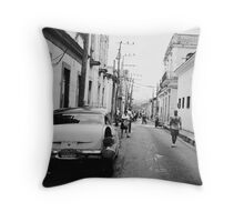 Streets of Matanzas Throw Pillow