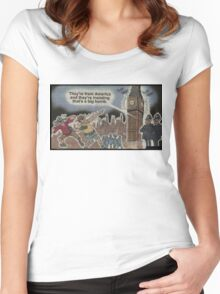 america these days... Women's Fitted Scoop T-Shirt