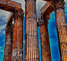 Greece. Athens. The Ruins of Temple of Zeus. by vadim19