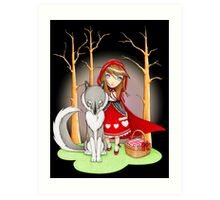 Red Riding Hood and Wolfie Art Print