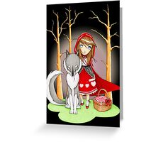 Red Riding Hood and Wolfie Greeting Card