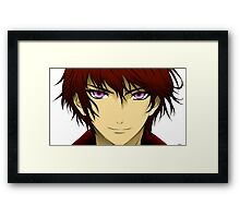 Anime boy Framed Print