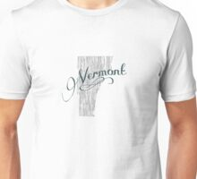 Vermont State Typography Unisex T-Shirt