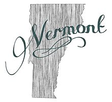 Vermont State Typography by surgedesigns