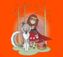 Red Riding Hood and Wolfie Kids Tee