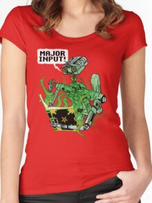 Major Input Women's Fitted Scoop T-Shirt
