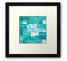 Baby Blue Marble Quilt II Framed Print