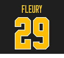 Pittsburgh Penguins Marc-Andre Fleury Jersey Back Phone Case by Russ Jericho