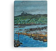 An Surr in the clouds, Island of Eigg Canvas Print