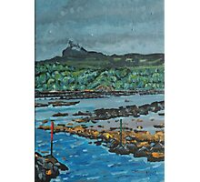An Surr in the clouds, Island of Eigg Photographic Print