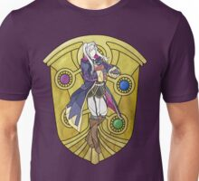 Stained Glass Female Robin Unisex T-Shirt
