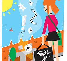 Dublin Flea Market Poster by Marcelo Badari
