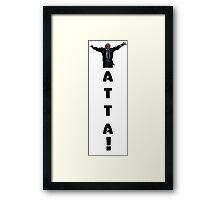 Yatta! Hiro Nakamura Framed Print
