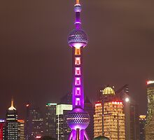 Pearl Tower Shanghai by Frank Moroni