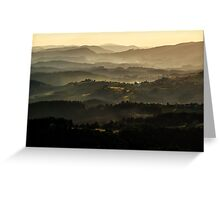 Sunset over Beskidy Mountains Greeting Card