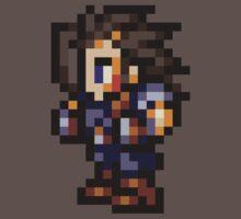 Zack Fair sprite - FFRK - Final Fantasy VII (FF7) One Piece - Short Sleeve