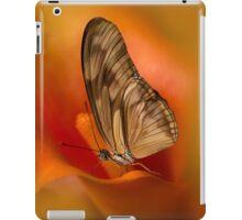 Brown Butterfly on Calia flower iPad Case/Skin