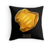 Soul of the Monk -black Throw Pillow