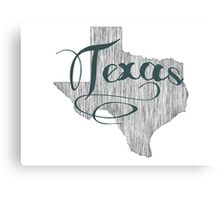 Texas State Typography Canvas Print