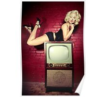 Blond on a TV Poster