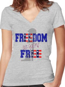 Freedom is not Free Women's Fitted V-Neck T-Shirt