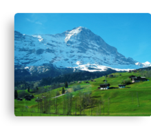 Refreshing Swiss Alps Canvas Print