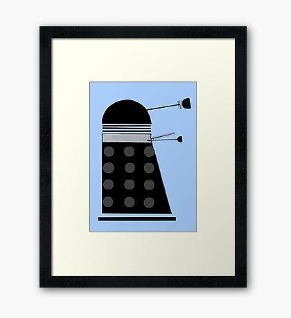 Dalek (Black) Framed Print