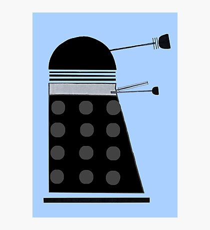 Dalek (Black) Photographic Print